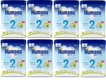 Humana 2 babymilk 800g (8 boxes)