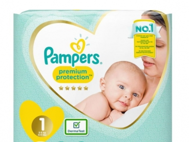Pampers premium protection No.1 (2-5kg) 36 diapers