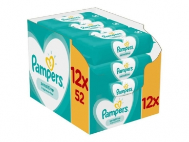 Pampers cleaning cloths sensitive 12x 52 cleaning cloths MEGAPACK