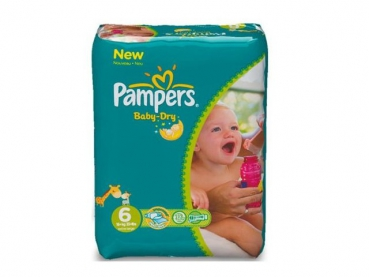 Pampers Baby Dry XL 31 Stück 16+ kg Gr 6
